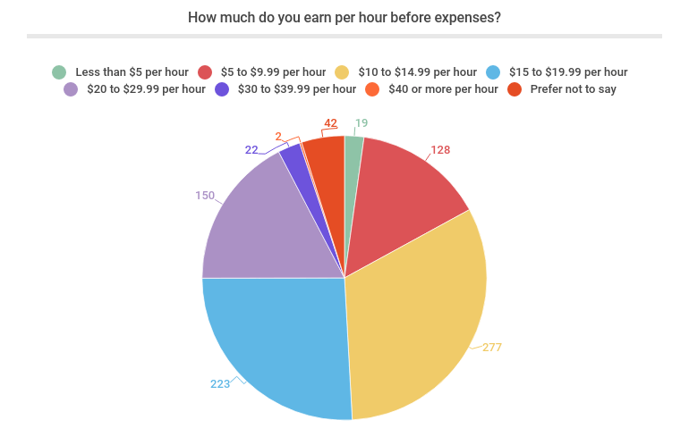 How much do you earn per hour before expenses?